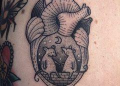 Tatuaje pareja de ratones