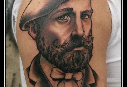 Tatuaje de perro de caza