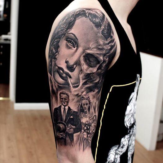 Tatuaje retrato de boda