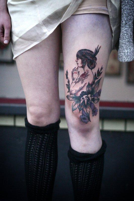 Tatuaje de mujer tatuada