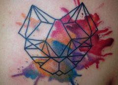 Tatuaje felino esquemático