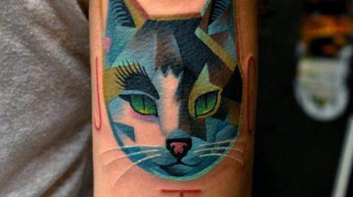 Tatuaje de rosa de color azul