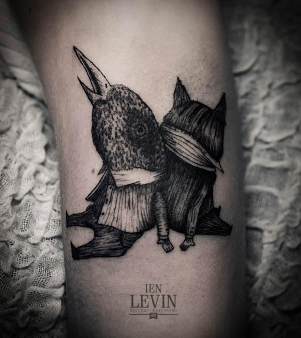 Tatuaje personajes de fantasía