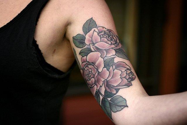 Tatuaje trío de rosas