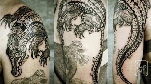 Tatuaje de guerrero vikingo