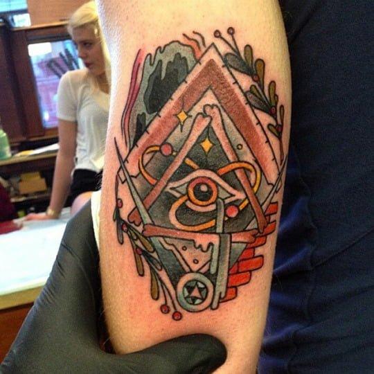 Tatuaje símbolos masónicos