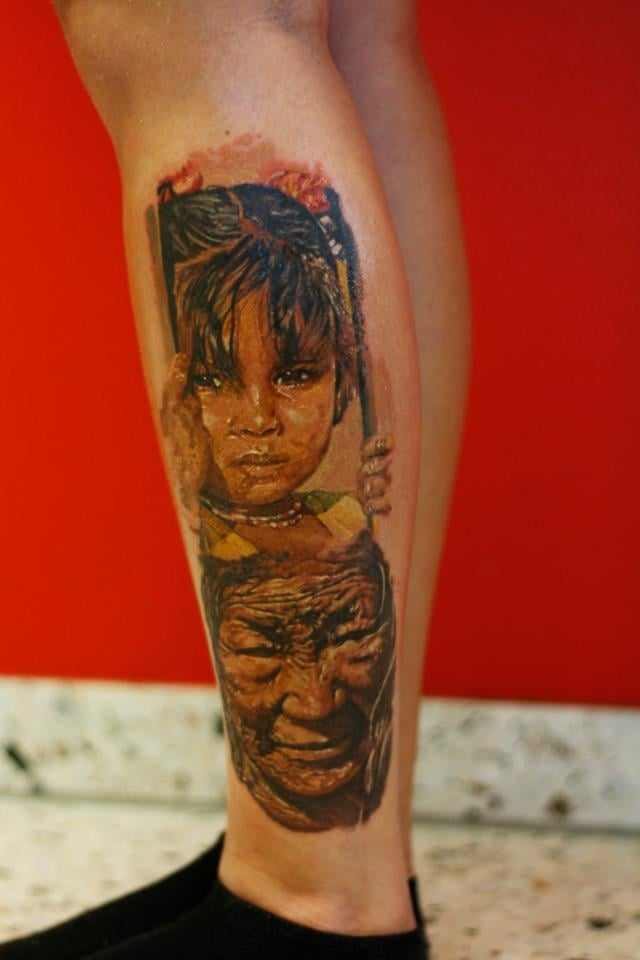 Tatuaje abuela y nieta indias americanas