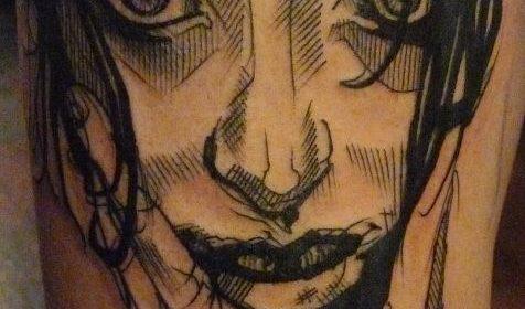 Tatuaje de texto de El Señor de los Anillos