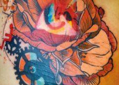 Tatuaje helado de flores