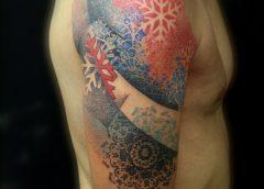 Tatuaje invernal en el brazo