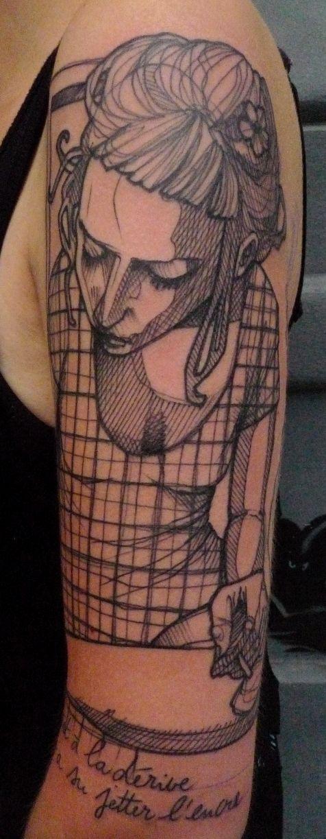 Tatuaje mujer fumando