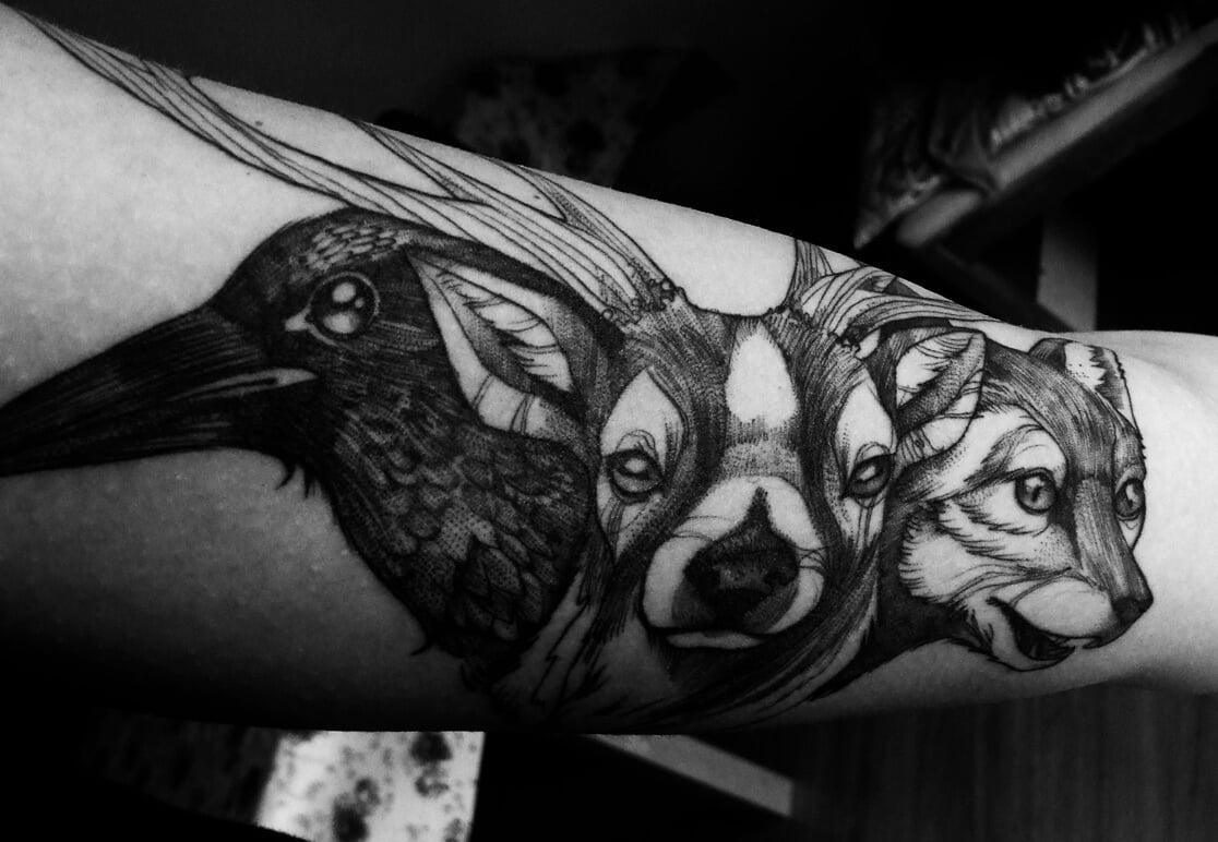 Tatuaje animales del bosque