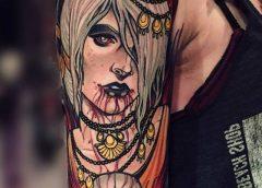 Tatuaje chica vampiro