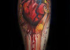 Tatuaje corazón sangrante