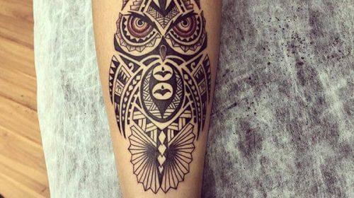 tatuaje buho maori